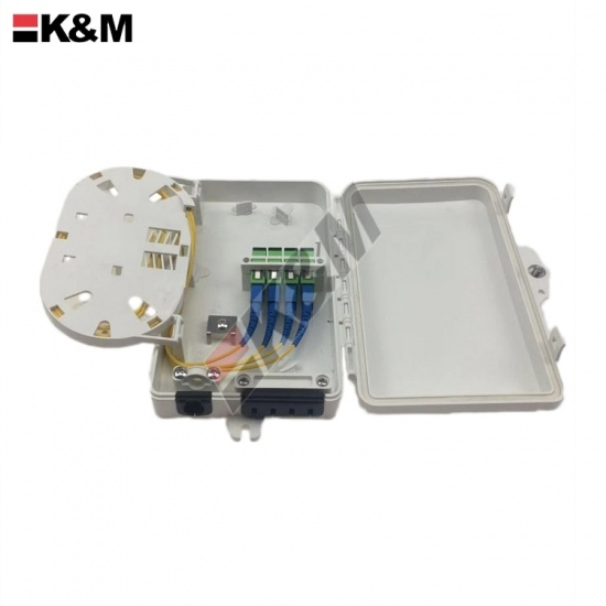 SC Simplex Fiber optic termination box 4 Cores